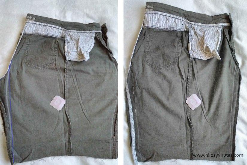 corte falda