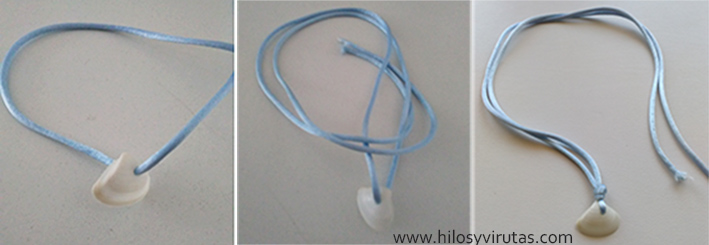 collar cordón concha