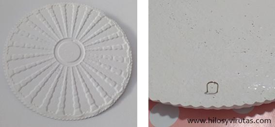 pizza clip moldura roseton