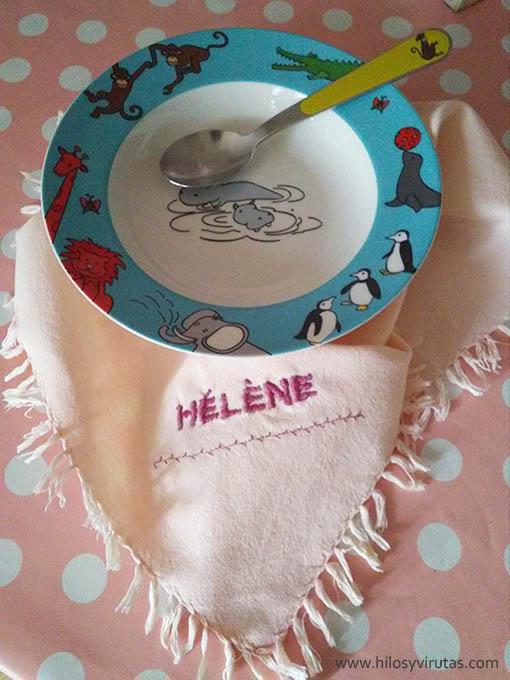 servilleta bordada maquina de coser