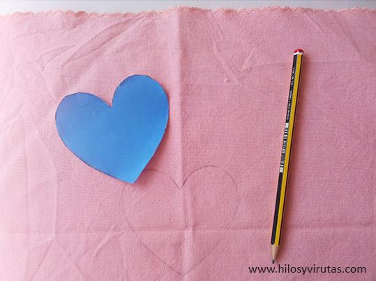 bordar corazon