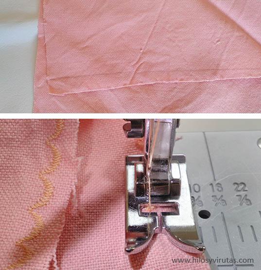 hacer bordes ondulados con maquina de coser