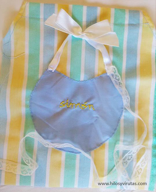 bolsa para baberos blonda