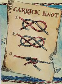 Carrick calabrote doble carraca nudo knot