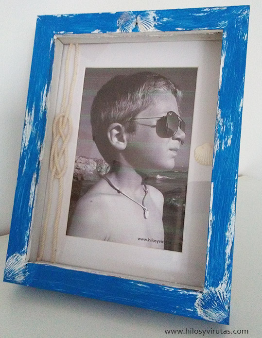 marco marinero verano foto conchas nudo