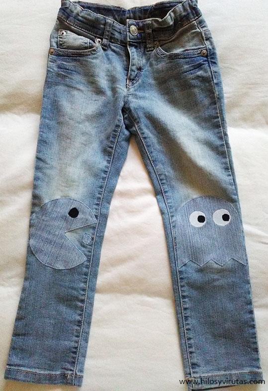 pantalon parches pacman