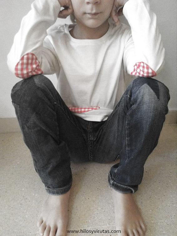 coderas, rodilleras aplicaciones camiseta pantalon