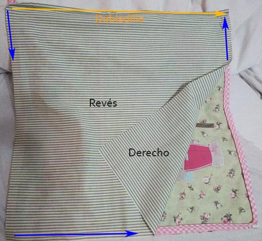 coser trasera cojín