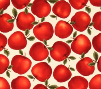 manzana rojas tela