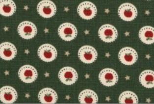 manzanas fondo verde tela