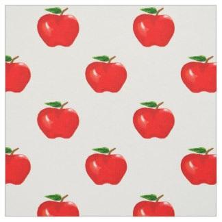 manzanas rojas tela
