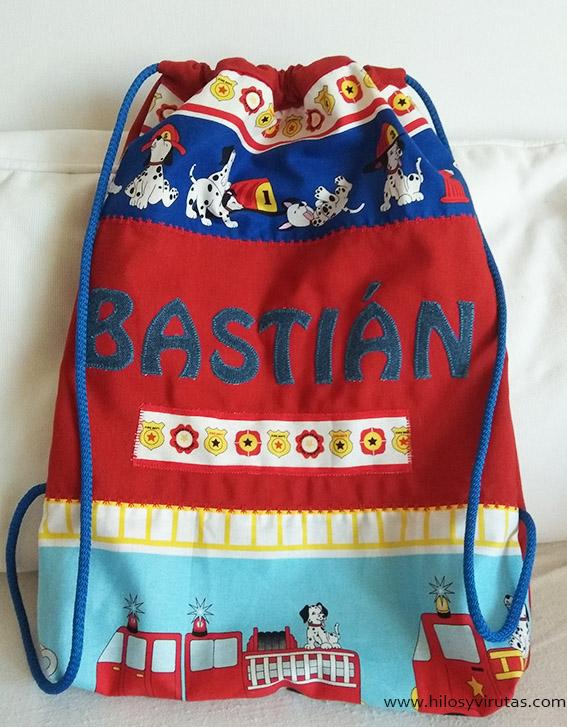 mochila bastian niños bomberos