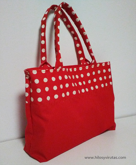 bolso dotted dream lunares rojo