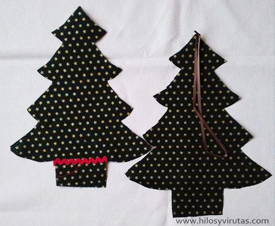 hacer arbol navidad tela - Arbol De Navidad De Tela