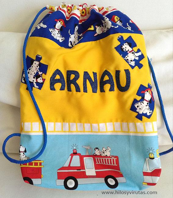mochila personalizada Arnau