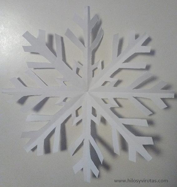 copo de nieve de papel cortar
