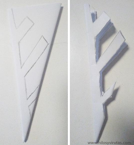 recortar copo de nieve papel