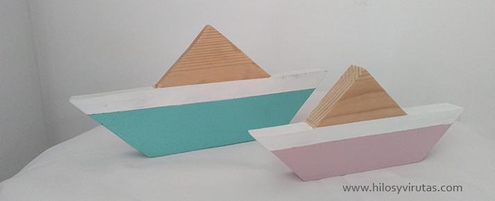 barco madera blanco rosa mint