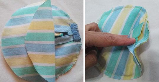 coser forro delantero bolso flor