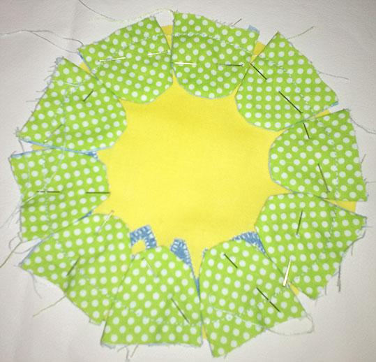 coser petalos bolso flor