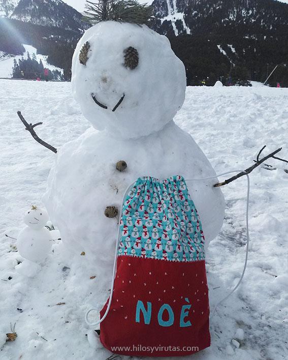 muñeco de nieve mochila aplicaciones
