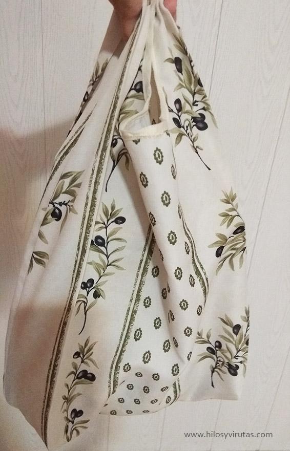 bolsa de tela de plástico