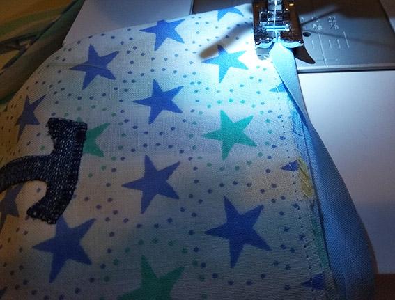 coser banderines al bies derecho