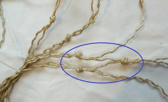 cuerda nudos 2 fila