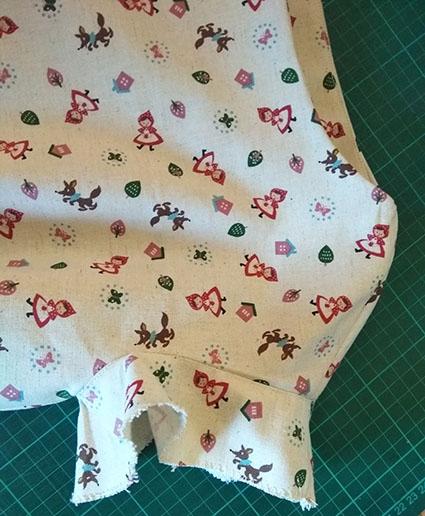 coser vistas de mangas understitching