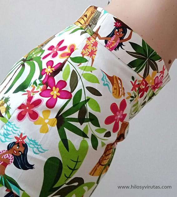 falda de tablas cinturilla