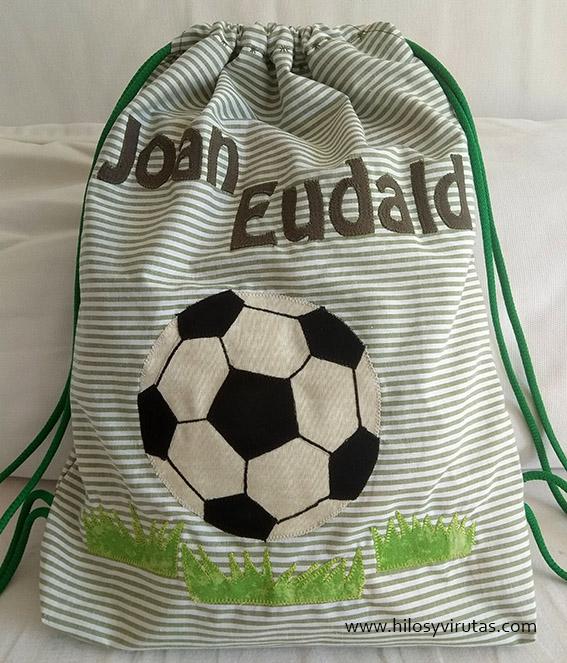 joan eudald mochila personalizada futbol pelota aplicaciones