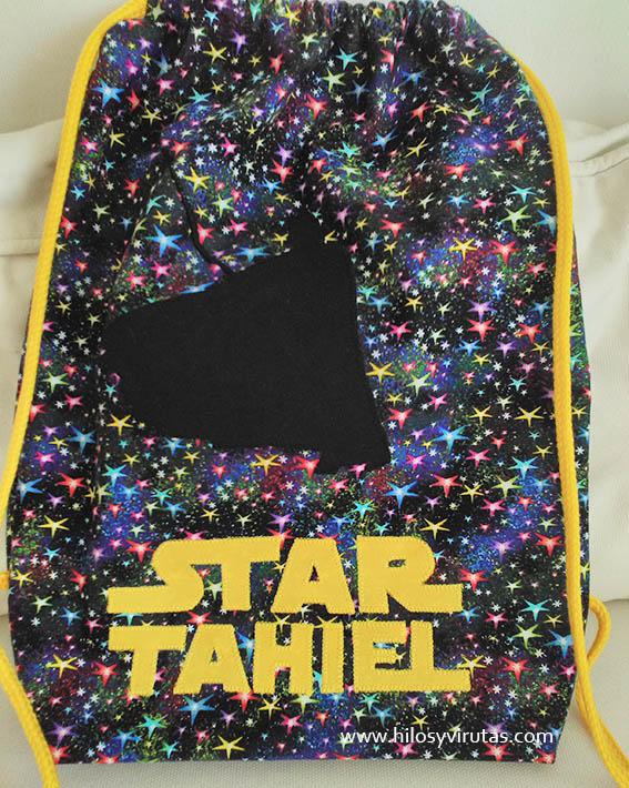 Star Tahiel mochila aplicaciones darth vader personalizada