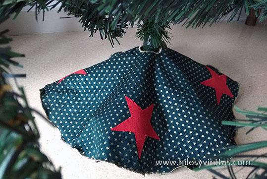 cubre pie base arbol navidad