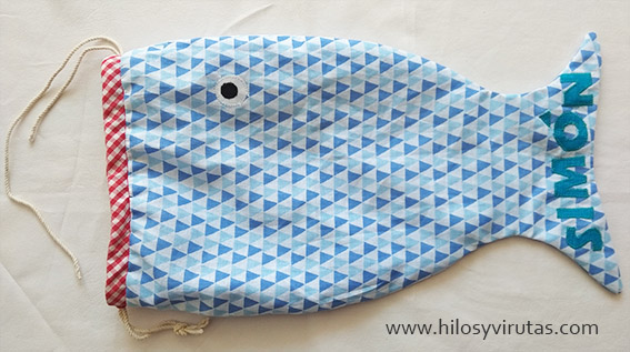 bolsa merienda pez cordón