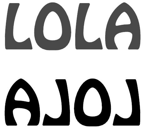 LOLA letras invertidas
